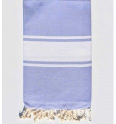 Flat lavender beach towel