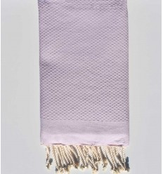 Plain honeycomb light lavender fouta