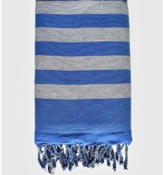 grey and blue beach towel sponge