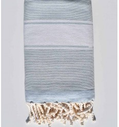 light blue coral beach towel sponge