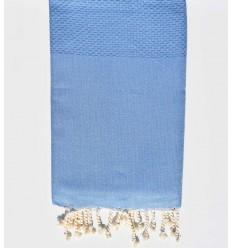 beach towel medium blue