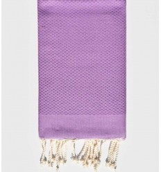 plain honeycomb Wisteria beach towel