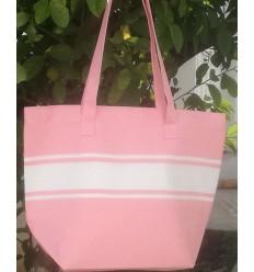 light pink beach bag