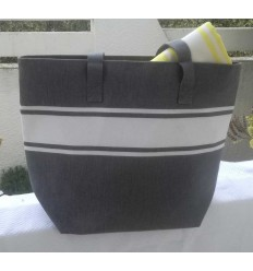 Dark gray beach bag