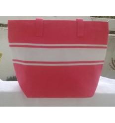 Fuchsia pink beach bag