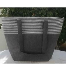 Sac gris foncé avec lurex argenté