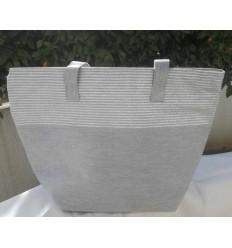 Gray bag with lurex