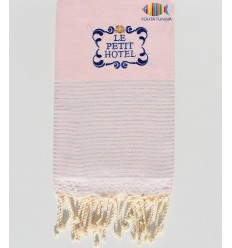 embroidered beach towel with lurex