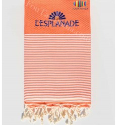 Embroidered and personalized beach towel l'esplanade