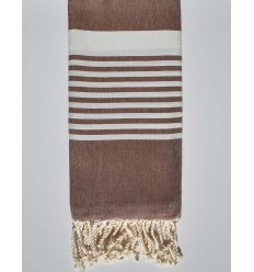 hazelnut brown arthur beach towel