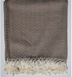 Brown chevron throw blanket