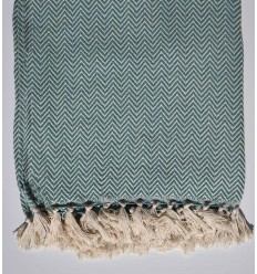 Generic viridian chevron throw blanket