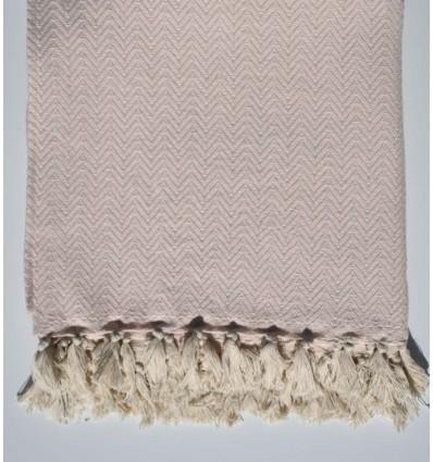 Baby pink chevron throw blanket