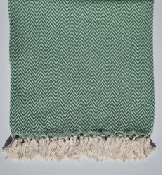 Green chevron throw blanket