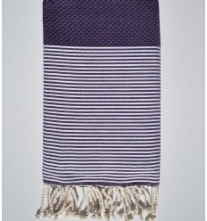 honeycomb dark purple beach towel