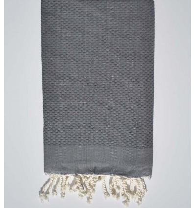 plain honeycomb medium iron gray beach towel