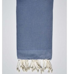 plain honeycomb queen blue beach towel