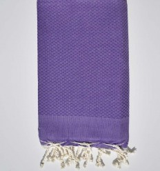 plain honeycomb violet beach towel