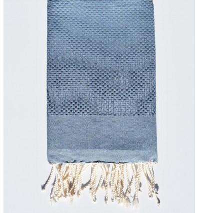 Plain Sky blue beach towel